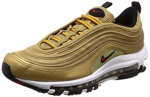 Nike Air Max 97 Og QS Mens Running Trainers 884421 Sneakers Shoes (UK 7.5 US 8.5 EU 42, Metallic Gold University red 700)