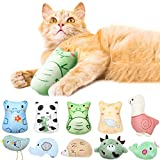 10 Pieces Catnip Toys for Indoor Cats Stuffed Chew Bite Catnip Teething Toy Soft Plush Cat Chewing Toys Interactive Kitten Toys for Cat Kitty Kitten (Cute Animal Series)