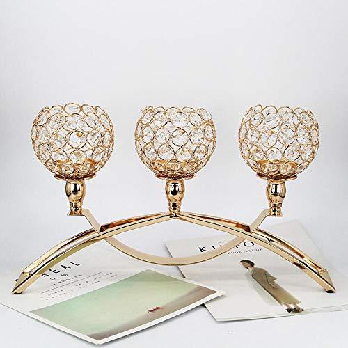 Eisen Design Kerzenständer 3 Arme Kerzenstã¤Nder in Gold Höhe 9.85in/25cm Kerzenleuchter Hoch für Hochzeitsessen Und Heimdekoration