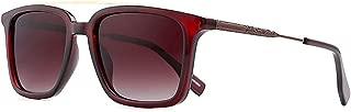 SGJFZD Full Frame TR Ultra Light UV400 Sunglasses Men and Women Retro Personality Sunglasses Bright Glasses (Color : Red)