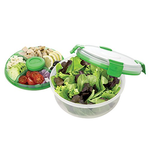 SnapLock by Progressive Salad To-Go Container, 1 count, Green