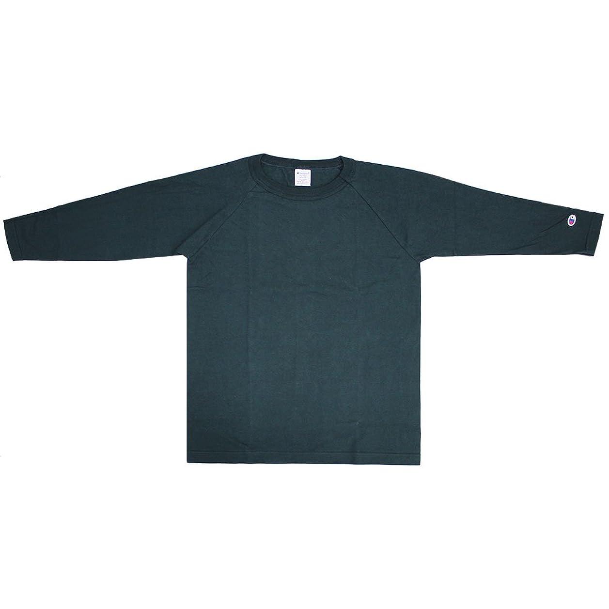山スピンケーブルカーChampion チャンピオン T1011(ティーテンイレブン) ラグラン3/4スリーブ【7分袖】Tシャツ 17FW MADE IN USA カットソー メンズ ロゴ刺繍 C5-U401