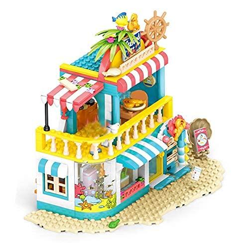 Bloques de construcción 490pcs Girls House Casa de mariscos Restaurante Tienda Bloqueo Bloqueo Faro Centro Ciudad Rescue Fit Amigos Ladrillos Sets Juguetes para niños