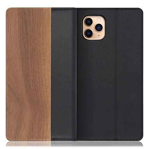[左利き仕様] LOOF Nature iPhone 11 Pro Max ケース 手帳型 カバー 天然木 本革 ウッド 手帳型ケース 手帳型カバー 携帯ケース 携帯カバー スマホケース スマホカバー ベルト無し 木製 スタンド機能付き カード収納 カード