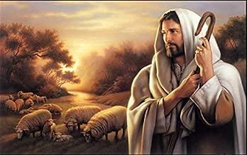 Gatsbe Exchange Oil Painting On Canvas Jesus Christ The Good Shepherd 11 X 17 Unframed