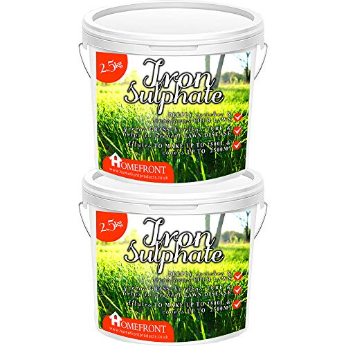 Homefront Iron Sulphate - Makes Grass Greener, Hardens Turf and Prevents Lawn Disease - Makes up to 5000L When Diluted & Covers up to 5000m2 (5 kg)