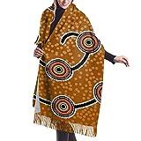 Tengyuntong Bufanda de mantón Mujer Chales para, Bufanda de invierno de cachemira con diseño de pez de arte aborigen para mujeres y hombres