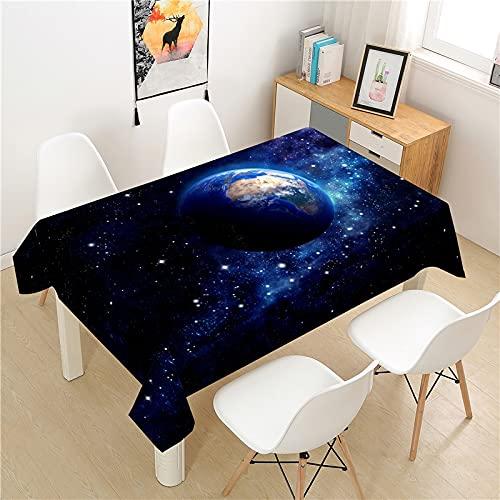 XXDD Planeta Tierra Mantel Cubierta de Mesa Mesa de Picnic Rectangular luz Cubierta de Mesa de Lujo Lavable decoración de la Mesa del hogar Mantel A3 150X210CM