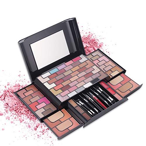Shogpon Schminkkassette Professionelle 68 Farben Eyeshadow Lidschatten-Palette Makeup Kit mit 8...