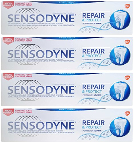 Sensodyne: 'Repair & Protect' Toothpaste, powered by NovaMin * 2.40 Fluid Ounce (70ml) Tube (Pack of...