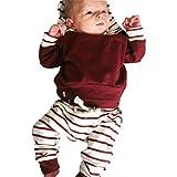 Mameluco bebé 2pcs Conjunto de Ropa Infantil de bebé niño niña Sudadera con...