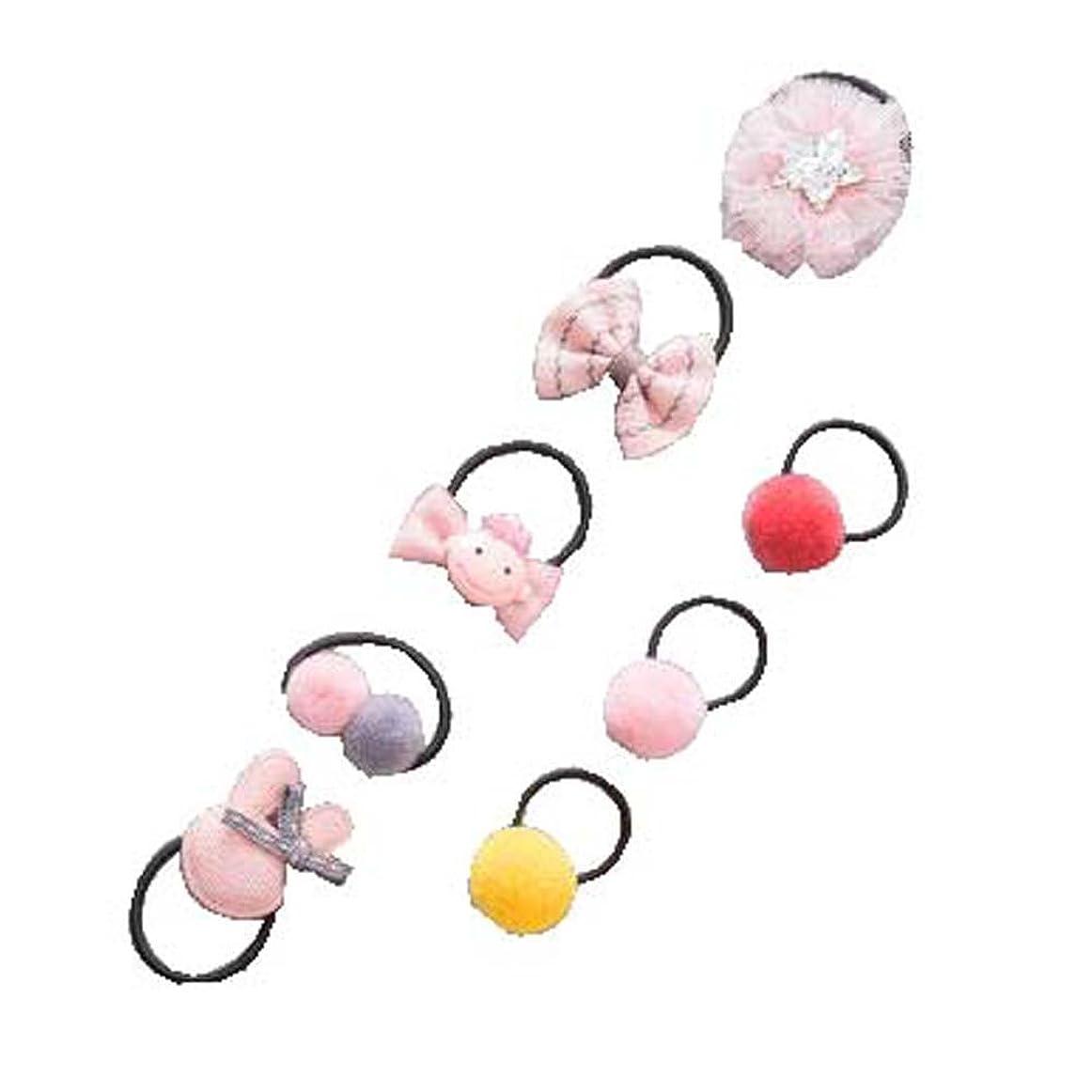 塩辛い防水規制8個の適用ヘアバンドラバーバンドベビーヘアロープヘッドウェアヘアリング