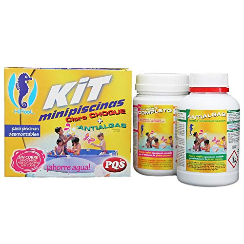 PQS-1617028 kit mini piscinas cloro+antialgas
