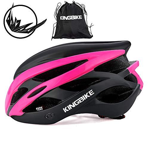 KING BIKE Fahrradhelm Helm Bike Fahrrad Radhelm mit LED Licht FüR Herren Damen Helmet Auf Die Helme Sportartikel Fahrradhelme GmbH RennräDer Mountain Schale Mountainbike MTB,L/XL(59-62CM)