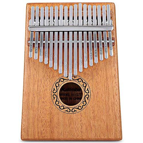 Kalimba 17 Teclas Piano de Dedo de Madera portátil con Tune Hammer Libro de Instrucciones Accesorio, Instrumento de música Regalo para Principiantes Niños Adultos, de Madera