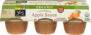 365 Everyday Value, Organic Cinnamon Apple Sauce, 4 oz, 6 ct