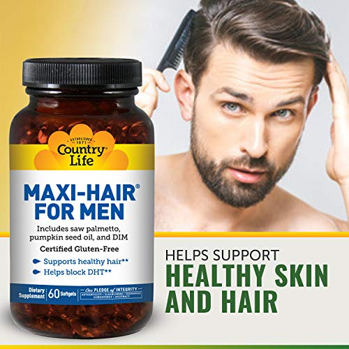 Country Life Maxi Hair for Men 60 Softgels.