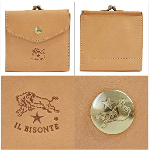 ILBISONTE(イルビゾンテ)C04232つ折り財布小銭入れ付き(キャラメル145)[並行輸入品]