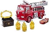 Disney Pixar Cars Color Changers coffret véhicule Red cascade et éclaboussures, camion de pompiers rouge et voiture incluse, jouet pour enfant, GPH80