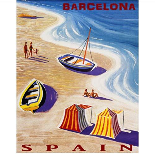 PDFKE Estilo de Lote Elija España Barcelona Impresión de Arte Lienzo Pintura...