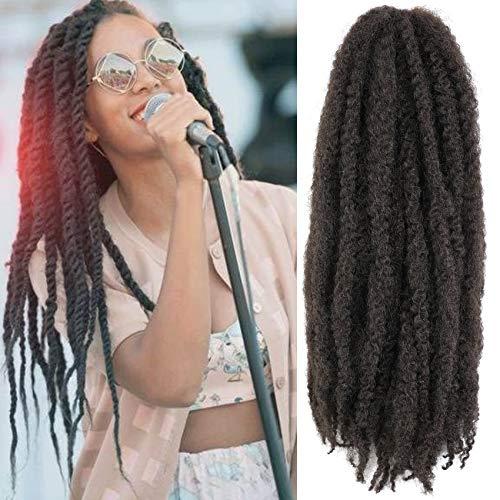 Wodun Marley Twist Hair Marley Hair for Twist Marley Twist Braid Hair Afro Kinky Braiding Hair 24 inches 6 Packs Maley Kinky Twist Hair for Braiding. (24 inch-6pacs, 4#)