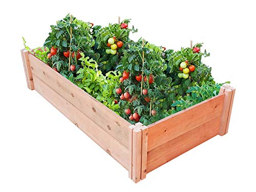 "GroGardens 2' x 4' x 11"" Redwood Raised Garden Bed, Grow Fresh Vegetables, Herbs, Flowers. Chemical Free, All Natural, Organic Raised Garden Bed, Tool-Free, No Tools Required."