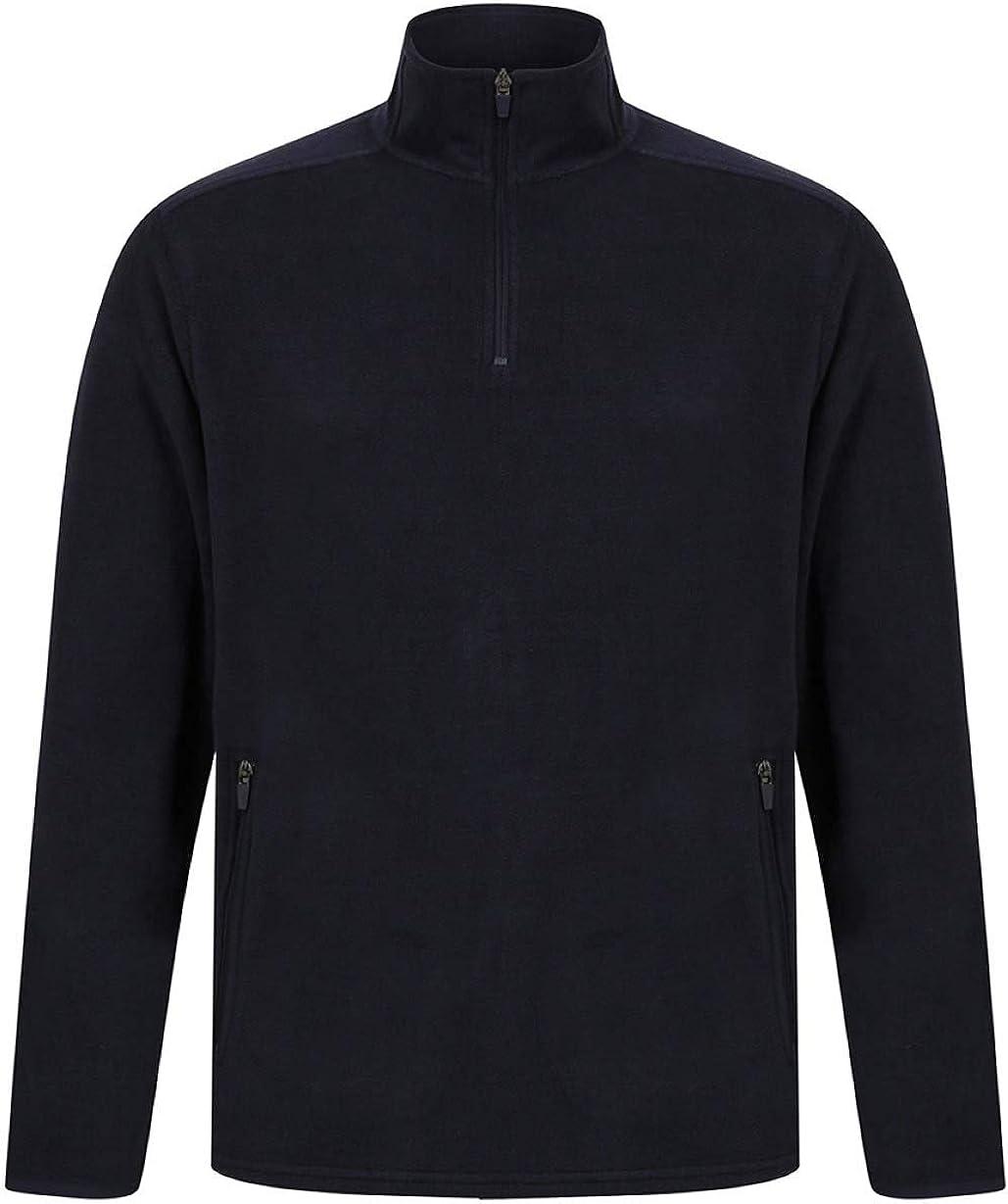 Henbury Zip Neck Micro Fleece