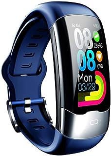 WUHUAROU Smart Band Health Pulsera Presión Arterial Ritmo cardíaco Fitness Pulsera Deportes Impermeable Reloj Inteligente (Color : Blue)