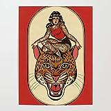 Beaxqb Pintar por Numeros para Adultos Niños Niña Tigre Lienzo Colorido con cepillos Decoración Decoraciones Pared LienzoArte decoración del hogar 40x50cmSin Marco