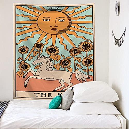 Tapiz Pared Naranja Girasol Tapiz Decoracion Habitacion Poliéster Tapices de Pared Decoracion Pared Dormitorio Sala de Estar Tapestry Aesthetic Room Decor 75x100cm
