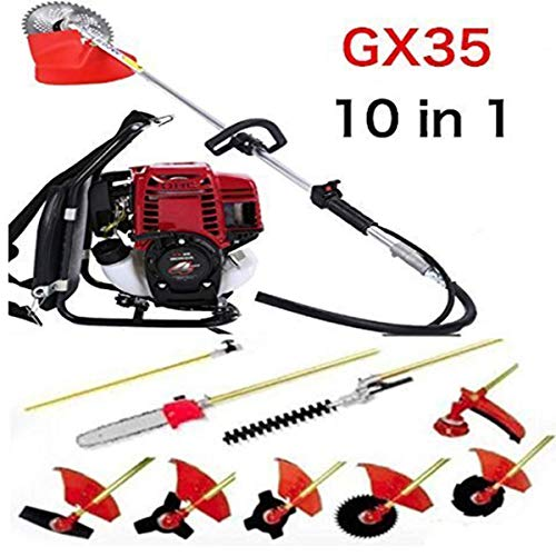 CHIKURA Multi 4 Stroke Backpack GX35 Long Reach Pole Chainsaw Brush Cutter Lawn Mower Pruner Weed Eater