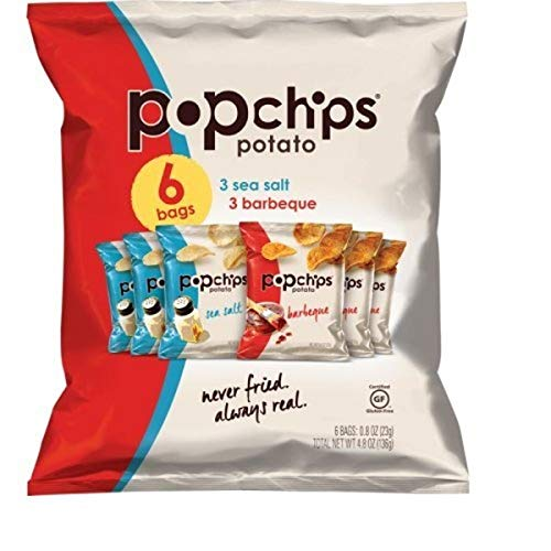 popchips Single Serve Chip, Variety Pack 4.8 Ounce (Pack of 6) (PPH21812PK)