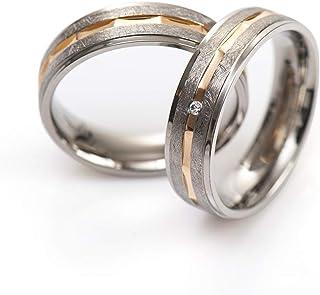 Gold Mabohity Ring Herren//Damen Titan-Ring Titanium 6mm Breit Matt /& Geb/ürsteter Ewigkeit Ehering Verlobungsring Freundschaftsring Hochzeit Band Gr/ö/ße 52 bis 70