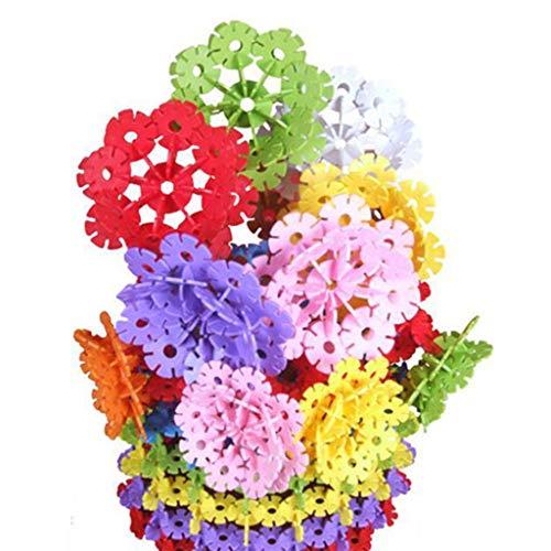 kids toys Jouets éducatifs de Flocon de Neige, Blocs de Construction de Puzzle éducatif pour Enfants de 500 pièces de Plus de 3-4-5-6 Ans, Blocs de Flocon de Neige emboîtant des disques en Plastique