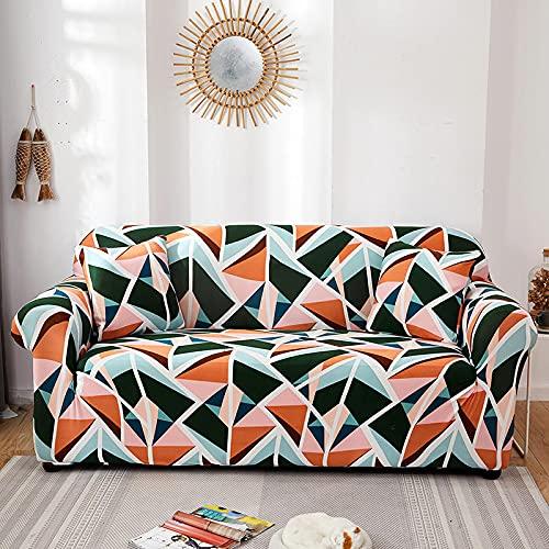 WXQY Bedruckte böhmische Stretch-Sofabezug Stretch-All-Inclusive-Staubbezug, rutschfeste Sofabezug für Wohnzimmer A8 3-Sitzer