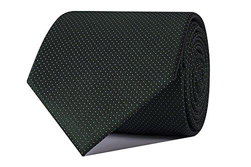 Sologemelos - Cravate Petits Pois - Vert 100% soie naturelle - Hommes - Taille Unique - Confection artesanale Made In Italy