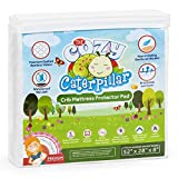 Cozy Caterpillar Crib Mattress Protector Pad   100% Waterproof Bamboo Crib Mattress Cover/Topper for Baby & Toddler   Hypoallergenic   Eco-Friendly   Washer & Dryer Safe   No Harsh Chemicals