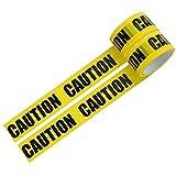 パッキングテープ バリケード テープ (CAUTION) 幅4.7cmX長さ25m 2巻セット フィルムテープ ライン用テープ 梱包 表示 安全