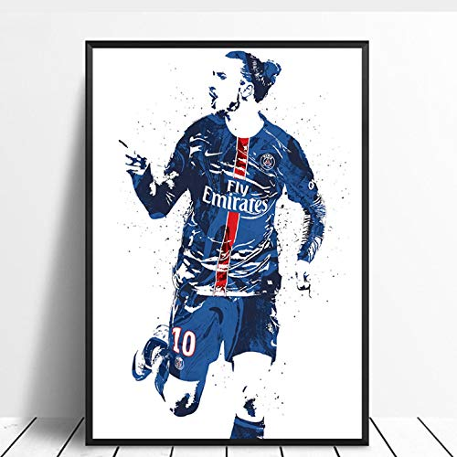 taoyuemaoyi Zlatan Ibrahimovic Fußball Fußballstar Sport Leinwand Poster Wand Kunstdruck Kinder Dekor Wohnkultur Wanddekor Leinwand Malerei 40 * 60 cm