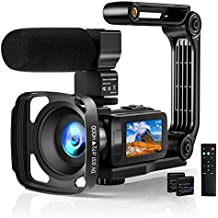 Video Camera 2.7K Camcorder with Microphone Ultra HD 36MP Vlogging Camera for YouTube IR Night Vision 3 Inch Touch Screen Time-Lapse, Slow Motion, Remote Control, 2 Battery, 16X Digital Zoom