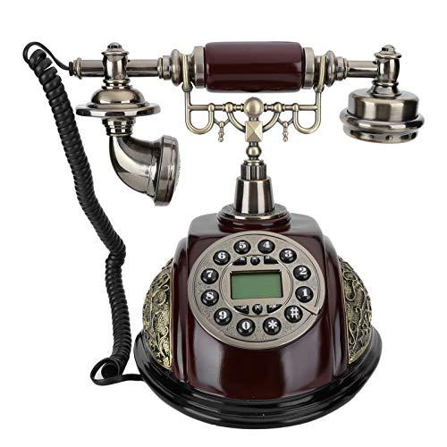 Teléfono fijo retro, CT ‑ N8028 Teléfono fijo retro, teléfono de marcación giratoria, exquisito y hermoso, registro de llamadas de la tienda, adecuado para decoración del hogar y regalos de empresa