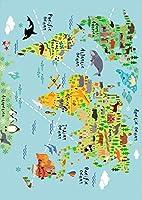 igsticker ポスター ウォールステッカー シール式ステッカー 飾り 210×297㎜ A4 写真 フォト 壁 インテリア おしゃれ 剥がせる wall sticker poster 015949 世界地図 wordmap