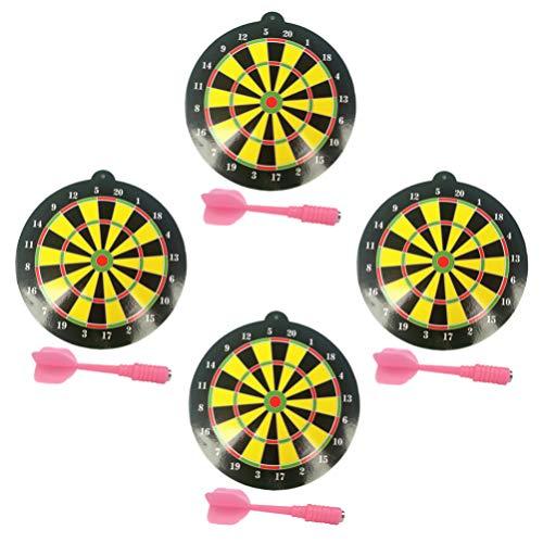 BESPORTBLE 4 Sets Kinderen Magnetische Dartbord Vrije Tijd Dart Spel Speelgoed Voor Thuis Game Room Outdoor (2 Stuks/Set Willekeurige Kleur)