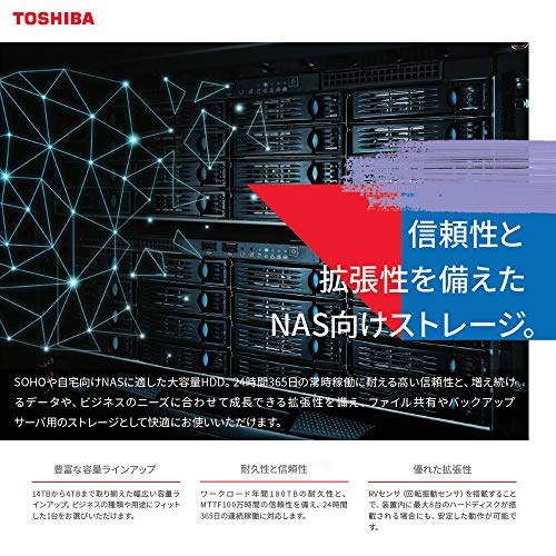 東芝内蔵HDD3.5インチ12TBNASモデルMN07ACA12T-3YW24時間稼働CMR記録方式【国内正規代理店品】3年保証SATA6Gbps対応