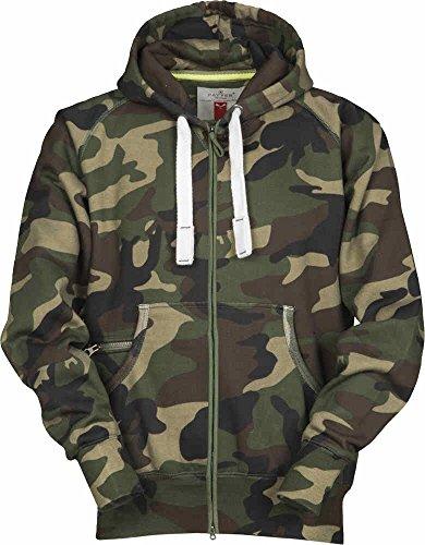 S.B.J - Sportland Camouflage Classic Army Style Zip Jacke/Hoody/Sweatjacke/Kapuzensweater/Pullover in Tarnfarbe