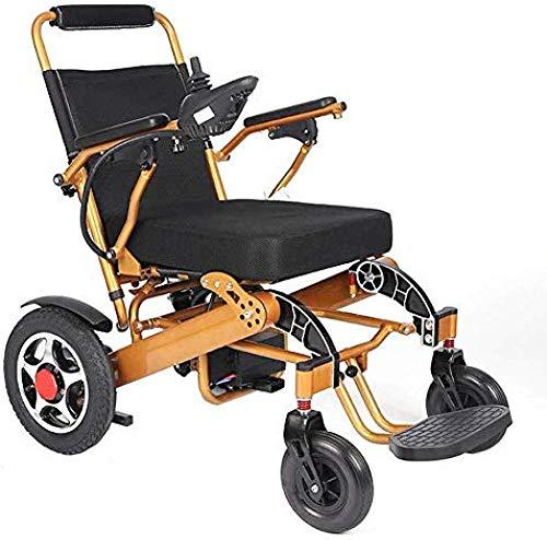 SISHUINIANHUA Die meisten Compact Power Stuhl Faltbare Leistung Compact Mobility Aid Rollstuhl Elektro-Rollstühle leichteste und kompakteste mit intelligentem Elektromotor oder Manuell