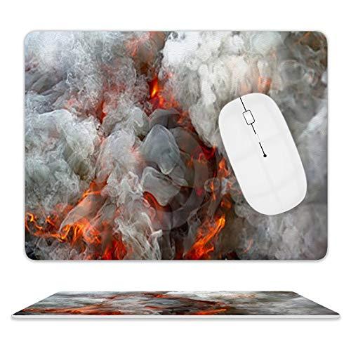 Fire Smoke - Alfombrilla de ratón de piel para ordenador portátil y escritorio (25 x 20 x 2 cm)