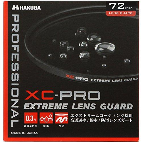 HAKUBA 72mm レンズフィルター XC-PRO 高透過率 撥水防汚 薄枠 日本製 レンズ保護用 CF-XCPRLG72