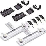 Ultra Durable W10712394 Dishwasher METAL Rack Adjuster Kit Replacement Part by Blue Stars - Exact Fit For Whirlpool & Kenmore Dishwashers - Replaces W10238418 W10253546 PS10064063