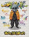 Bloc De Dibujo: Un gran cuaderno de bocetos cuadrado para artistas de graffiti y amantes del arte callejero, con 110 páginas en blanco para dibujar ... urbanas, diseños de palabras de graffiti